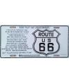 Kentekenplaat route 66