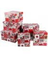 Kerst cadeaudoosje vierkant 13 5 cm
