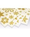 Kerst decoratie raamstickers gouden sneeuwvlokken