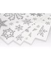 Kerst decoratie raamstickers zilveren sneeuwvlokken