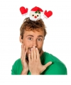Kerst diadeem zwaaiende kerstman