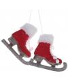 Kerst hangdecoratie schaatsen 13 cm