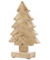 Kerst houten kerstboom 20 cm