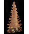 Kerst houten kerstboom koper met licht 39 cm