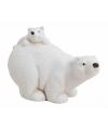 Kerst ijsbeer met jong beeldje