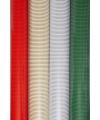 Kerst inpakpapier streep rood 70 x 200 cm