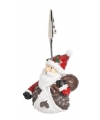 Kerst kaarthouder kerstman 11 cm type 1