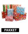 Kerst kadopapier pakket