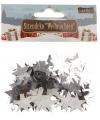 Kerst kerst confetti zilveren sterretjes 15 gram