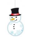 Kerst kerst hangdecoratie sneeuwpop 41 cm