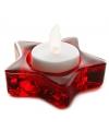 Kerst kerst theelichthouder rode ster 8 cm