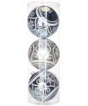 Kerst kerstballen zilverblauw ornament 15 cm