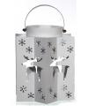 Kerst lantaarn met rendieren zilver