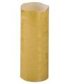 Kerst led stompkaars goud 20 cm