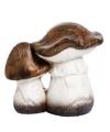 Kerst paddenstoelen beeldje bruin 13 cm type 1