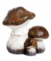 Kerst paddenstoelen beeldje bruin 13 cm type 2