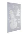 Kerst raamsjabloon sneeuwpop 54 cm