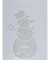 Kerst raamsjabloon sneeuwpop type 1 35 cm