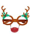 Kerst rendier bril
