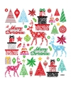 Kerst stickervel merry christmas