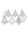 Kerst zilveren kerstboom stickers