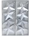 Kerstbal ster zilver 6 5 cm