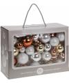 Kerstballen 86 delig goud koper zilver