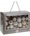 Kerstballen 86 delig zilver champagne wit