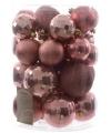 Kerstballen mix lichtroze 30 stuks