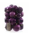 Kerstballen mix paars 30 stuks