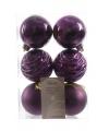 Kerstballen mix paars 6 stuks