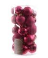 Kerstballen mix roze 30 stuks