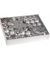 Kerstboom decoratie set 33 delig zilver