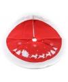 Kerstboom kleed vilt rood wit