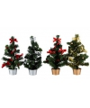 Kerstboom met decoratie rood goud 30 cm