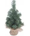 Kerstboompje met houten voet 30 cm