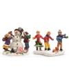Kerstdorp figuurtjes kinderen set