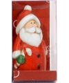 Kerstfiguur beeldje kerstman met snoep 7 cm