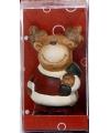 Kerstfiguur beeldje rendier 7 cm