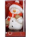 Kerstfiguur beeldje sneeuwpop 7 cm