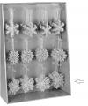 Kersthanger sneeuwvlok zilver glitter type 3