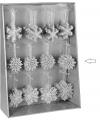 Kersthanger sneeuwvlok zilver type 2