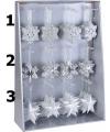 Kersthanger ster zilver 10 cm