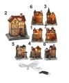 Kersthuisje met verlichting nummer 8