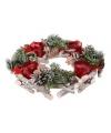 Kerstkrans met 4 theelichthouders