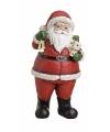 Kerstman beeld met bel 19 cm
