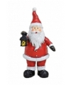 Kerstman beeldje met lantaarn 9 cm