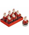 Kerstmannen kaarsjes 6 stuks