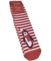 Kerstsokken pinguin voor dames
