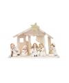 Kerststal met figuren van keramiek 26 cm